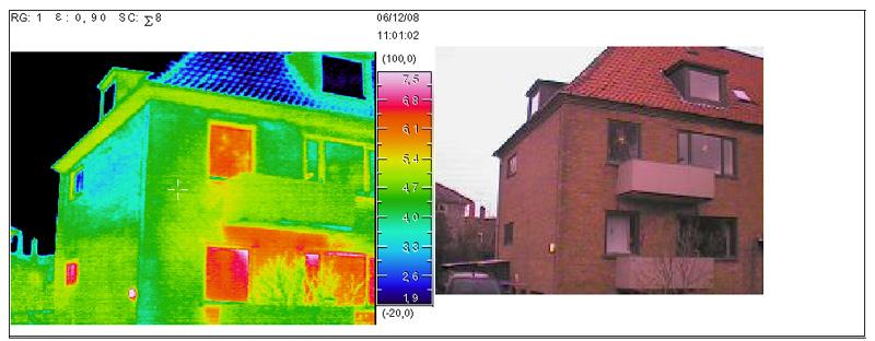 Termofotograferinger - kontrol af facader