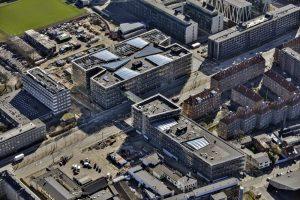 Niels Bohr Bygningen - Nørrebro i København - Københavns Universitet - Det Natur- og Biovidenskabelige Fakultet - blower door - tæthedsprøvning - tæthedstest